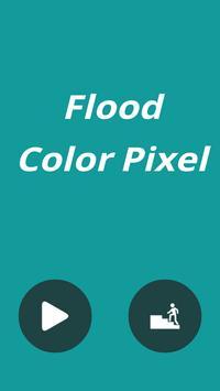 Flood Color Pixel poster