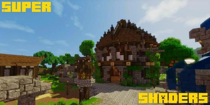 Super Shaders Mod MCPE poster