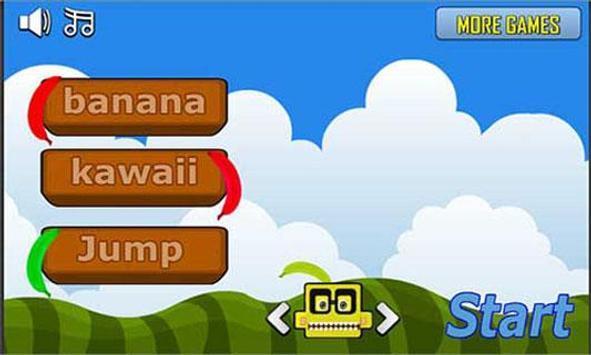 Banana kawaii jump poster