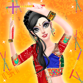 Indian Navratri Makeover and Makeup icon