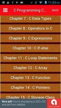 C Programming Concepts and Notes apk screenshot