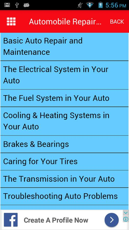 automobile repair troubleshooting