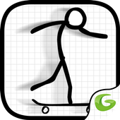 Awesome Skater Stickman icon
