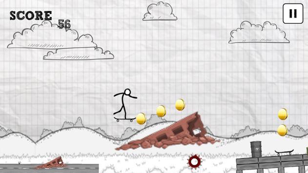 Awesome Skater Stickman apk screenshot