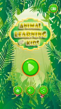 Animal Learning For Kids poster