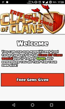 Gems Cheat For Clash Of Clans poster