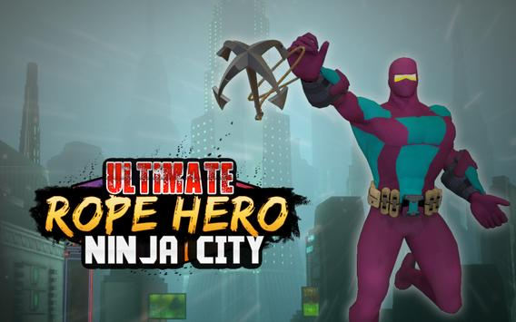 Ultimate Rope Hero Ninja City poster