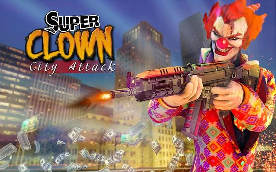 super scary clown 3d halloween horror night screenshot 3