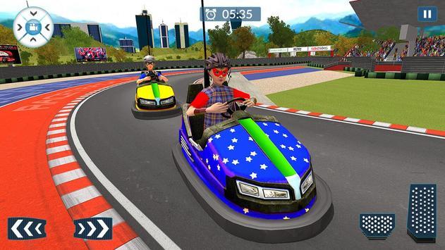 Super Hero Kids Bumper Car Race screenshot 4