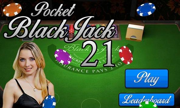 Pocket Blackjack 21 Vegas GO poster