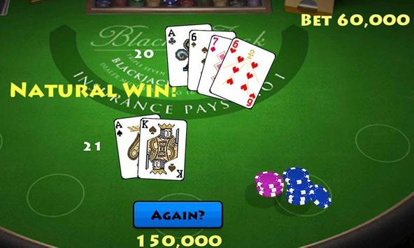 Pocket Blackjack 21 Vegas GO screenshot 1