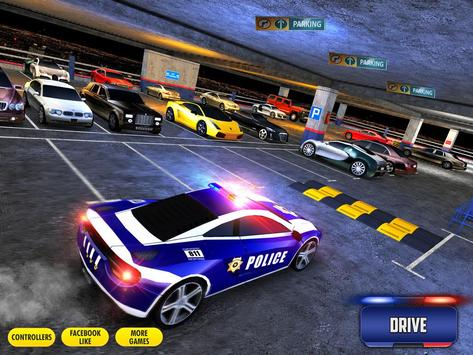 Multi Level Police Car Parking screenshot 10