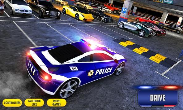 Multi Level Police Car Parking screenshot 16