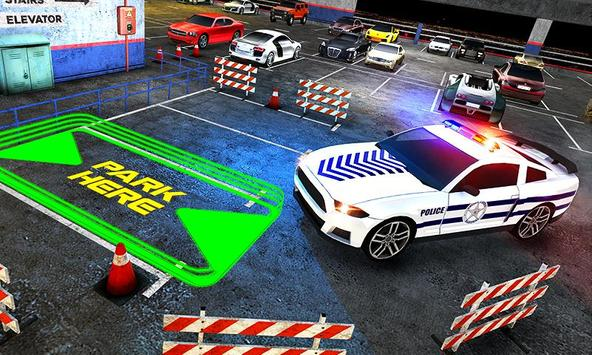 Multi Level Police Car Parking screenshot 18