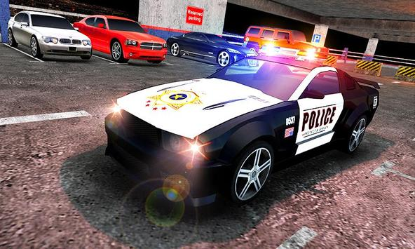 Multi Level Police Car Parking screenshot 4