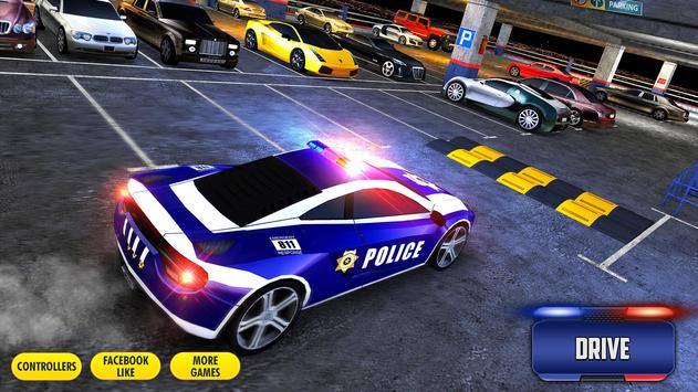 Multi Level Police Car Parking screenshot 5