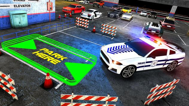 Multi Level Police Car Parking screenshot 8