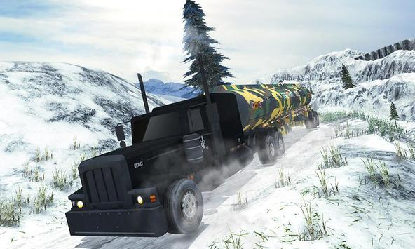 Army Oil Truck Hill Transport apk screenshot