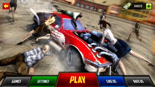Zombie Car Smash Derby apk screenshot
