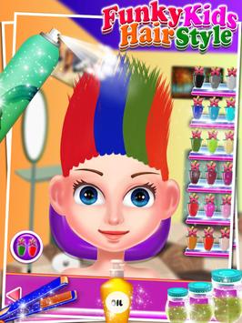 Funky Kids Hair Style - Salon poster
