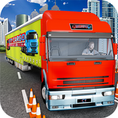 City Cargo Transport Truck icon