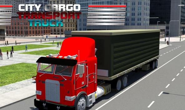 City Cargo Transport Truck poster