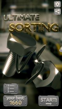 Ultimate Sorting: bolts n nuts poster