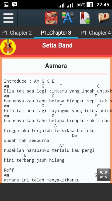 chord lagu st 12 asmara