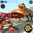 Super Dragon Flying Robot Vs Wild Dinosaur Games APK