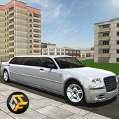 Big City Limo Car Driving icon