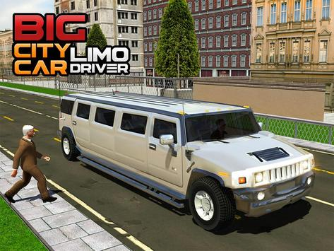 Big City Limo Car Driving screenshot 9