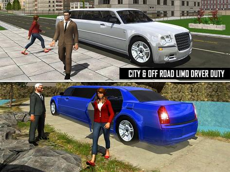 Big City Limo Car Driving screenshot 8