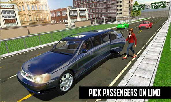Big City Limo Car Driving screenshot 4