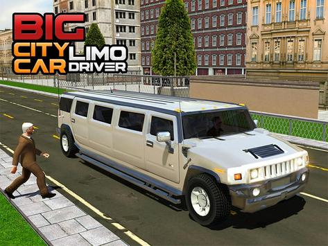 Big City Limo Car Driving screenshot 15