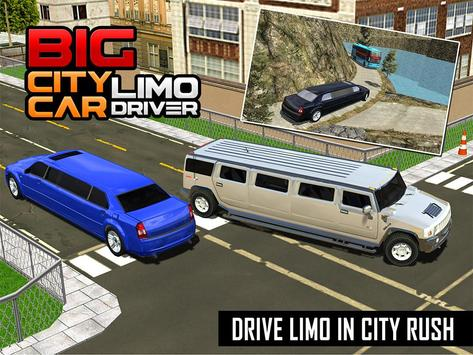 Big City Limo Car Driving screenshot 11
