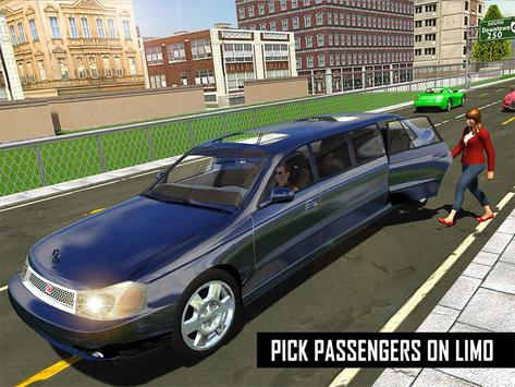 Big City Limo Car Driving screenshot 16