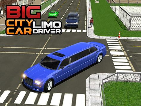 Big City Limo Car Driving screenshot 12