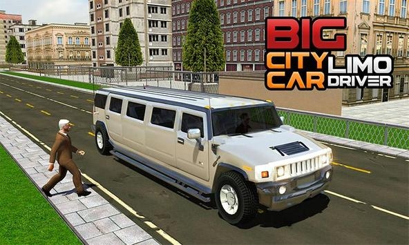 Big City Limo Car Driving screenshot 3