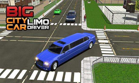 Big City Limo Car Driving poster