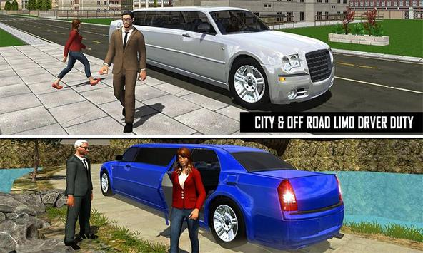 Big City Limo Car Driving screenshot 2