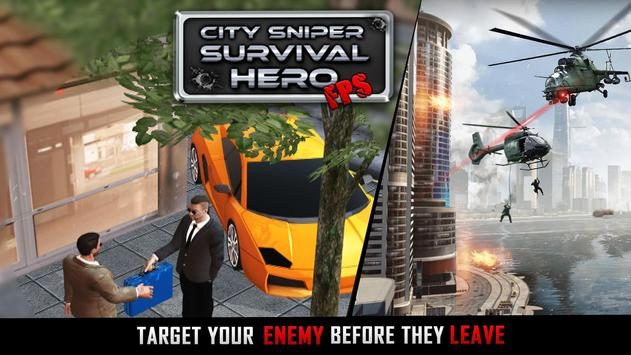 City Sniper Shooting Game - Free FPS Shooter screenshot 5