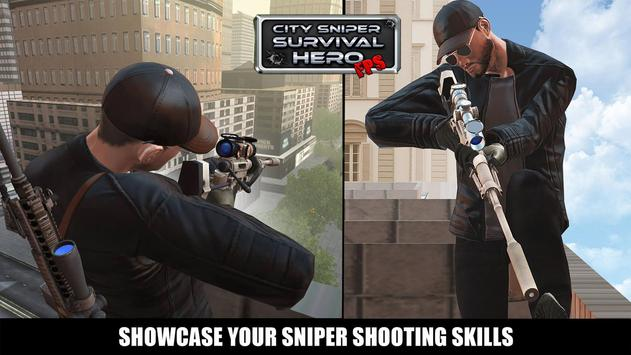 City Sniper Shooting Game - Free FPS Shooter poster