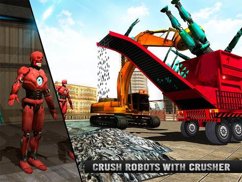 Futuristic Robot Crusher Crane apk screenshot