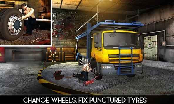 OffRoad Truck Mechanic Garage poster