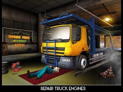 OffRoad Truck Mechanic Garage apk screenshot