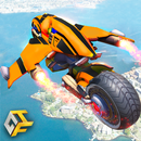 Flying Robot Bike : Futuristic Robot War APK