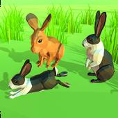 Rabbit Simulator Poly Art Adventure icon