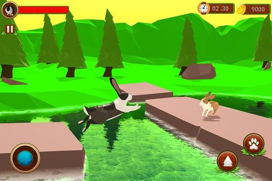 Rabbit Simulator Poly Art Adventure screenshot 3