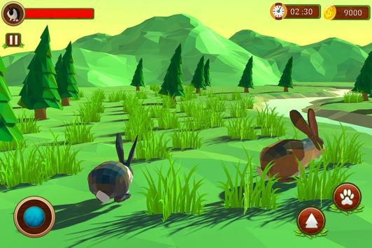 Rabbit Simulator Poly Art Adventure poster