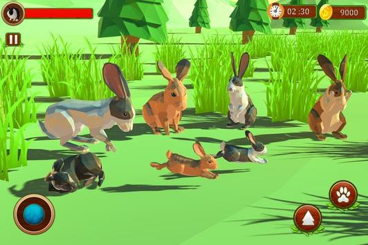 Rabbit Simulator Poly Art Adventure screenshot 1